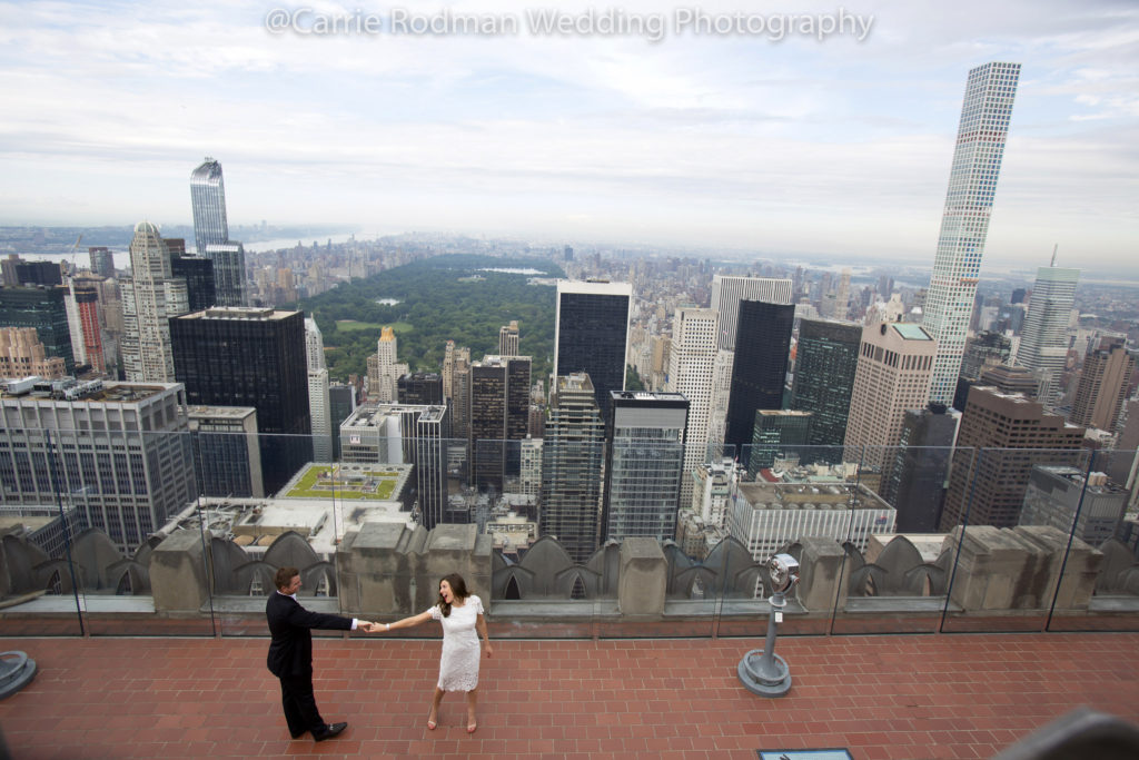 Carrie Rodman Wedding, Top of the Rock Engagement Session