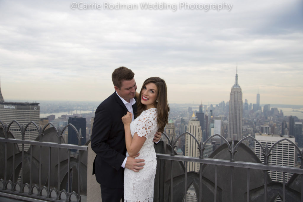 NYC engagement session, Top of The rock, Carrie Rodman Photography